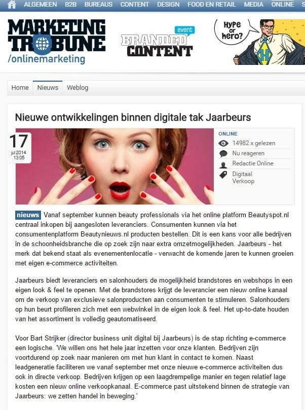 Beautyspot.nl in ecommerce