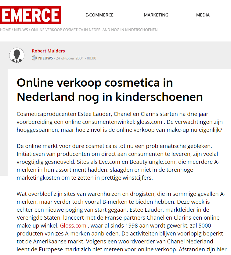 alaparfumerie.nl in emerce