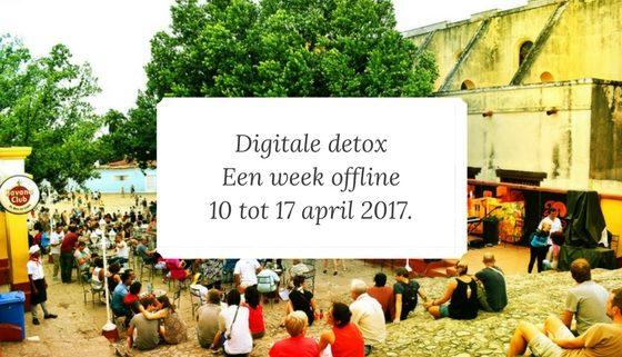 een week offline