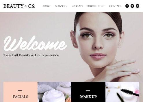 goed werkende website schoonheidssalon