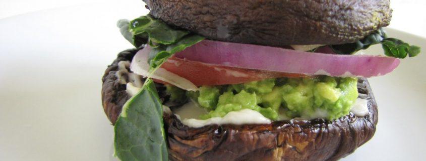 gezonde portobello burger