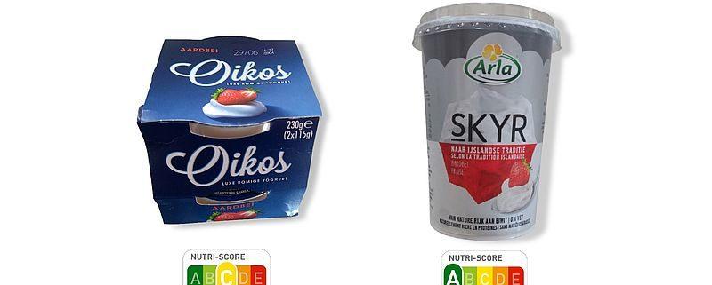 nutri score aardbei yoghurt